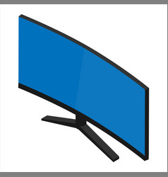 computer monitor screen isolated on white vector image