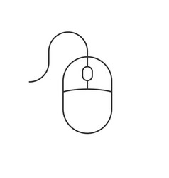 Computer mouse linear icon on white background vector
