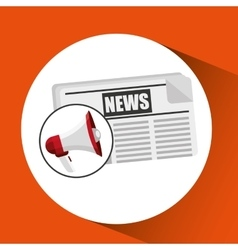 Concept news paper megaphone speaker graphic vector