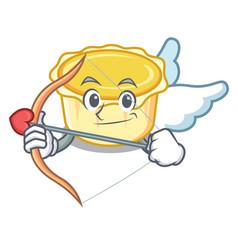 Cupid egg tart character cartoon vector