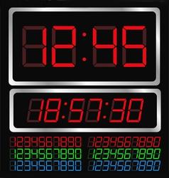 digital clock vector image