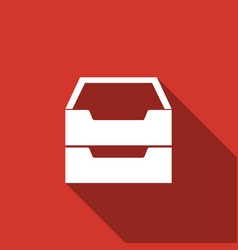 document inbox flat icon with long shadow vector image