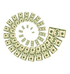 dollar money vortex vector image