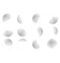 dot ball sphere abstract design element set vector image