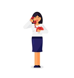 Employee with telephone vector image