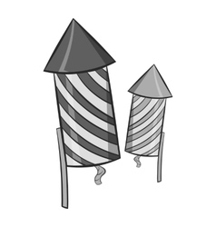 Firecracker icon black monochrome style vector