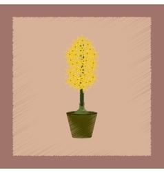 flat shading style plant Hyacinthus vector image