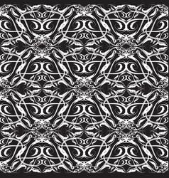 floral line art vintage baroque seamless pattern vector image
