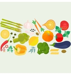 Frame of flat designed food with copyspace vector image
