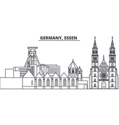 germany lessen line skyline vector image