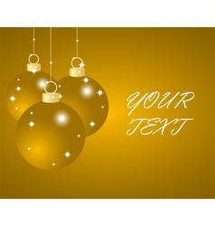 Gold Christmas balls vector image