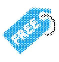 Halftone dot free tag icon vector