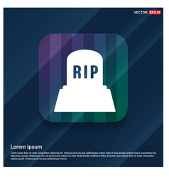 halloween rip grave stone icon vector image