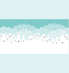 horizontal seamless white winter background vector image