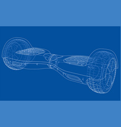 Hoverboard electric self-balancing scooter vector
