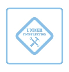 Icon of Under construction vector image