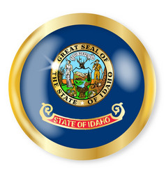 idaho flag button vector image