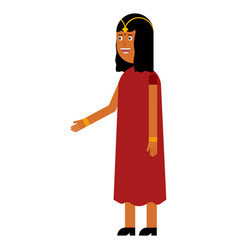 indian woman flat icon vector image