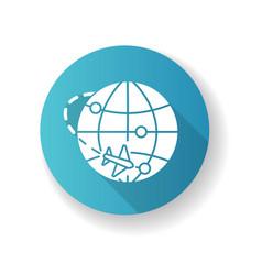 International trade blue flat design long shadow vector