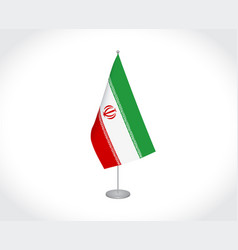 Iran flag on white background vector