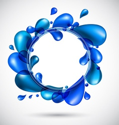 Liquid water spiral background vector image