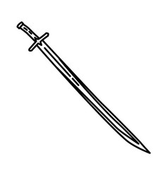mehmed 2 sword historical icon doodle hand drawn vector image