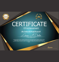 Modern certificate or diploma template 3 vector