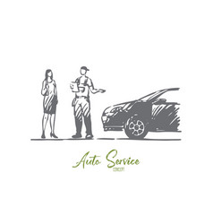 ordering delivery car service man concept vector image