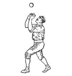 Outfielder vintage vector