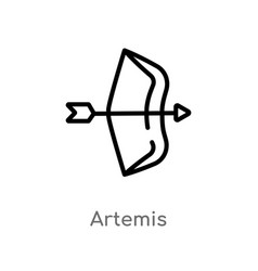 Outline artemis icon isolated black simple line vector