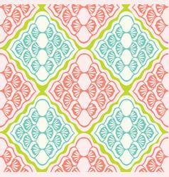 pretty geometric diamond damask pattern seamless vector image