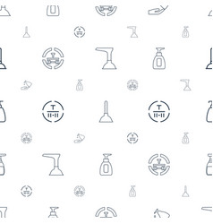 Pump icons pattern seamless white background vector