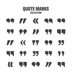 Quotation marks collection black quotes vector