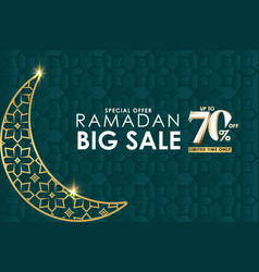 Ramadan big sale special offer up to 70 off vector