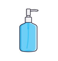 round plastic bottle with dispenser for liquid vector image