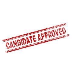 Scratched textured candidate approved stamp seal vector