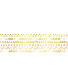 Seamless border gold foil ethnic and tribal motifs vector