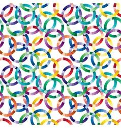 Seamless cuted circle pattern vector image