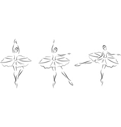 Set of ballerinas vector