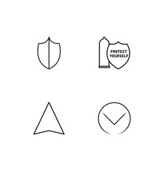 Sex linear icons set simple outline icons vector