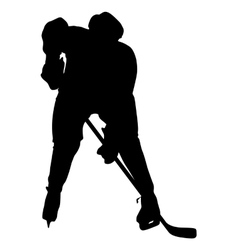 Silhouette of hockey player Isolated on white vector