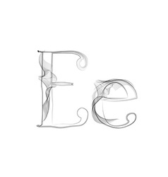Smoke or Haze Letter Font Type two letters vector image