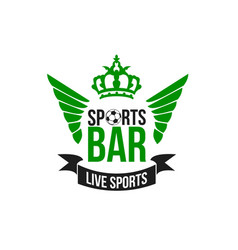 soccer sports beer pub icon vector image