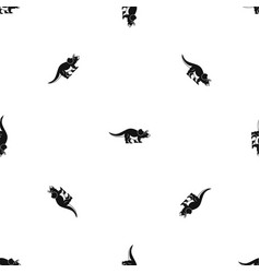 Styracosaurus pattern seamless black vector