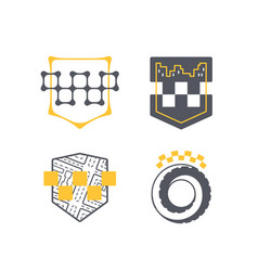 Taxi car service symbol set vector