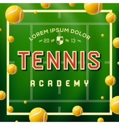 Tennis academy design over green background vector image