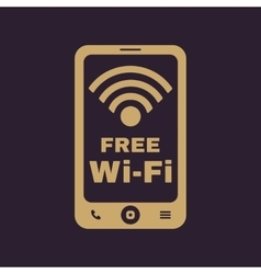 The wifi icon Free Wifi symbol Flat vector