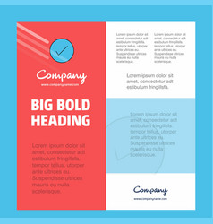 tick business company poster template with place vector image