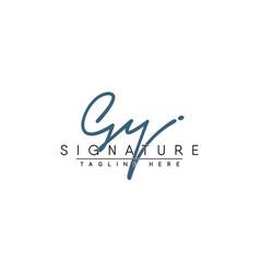 Title gy initial signature logo handwritten vector