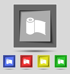 Toilet paper WC roll icon sign on the original vector